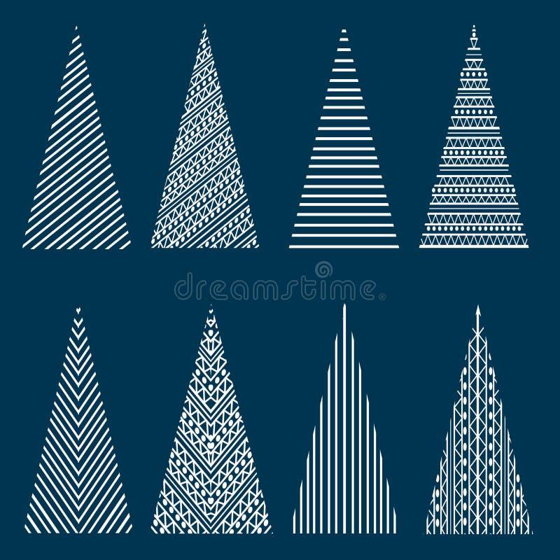 jul stylized trees royaltyfri foto