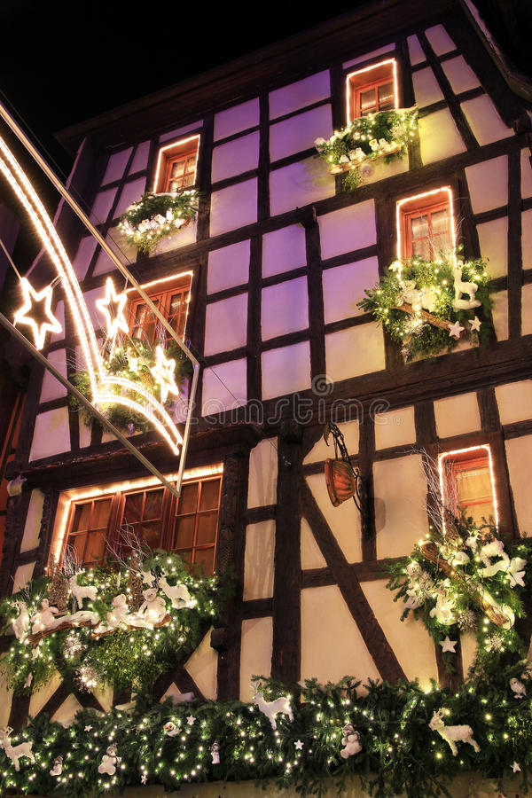 Jul tajmar i Alsace royaltyfri fotografi