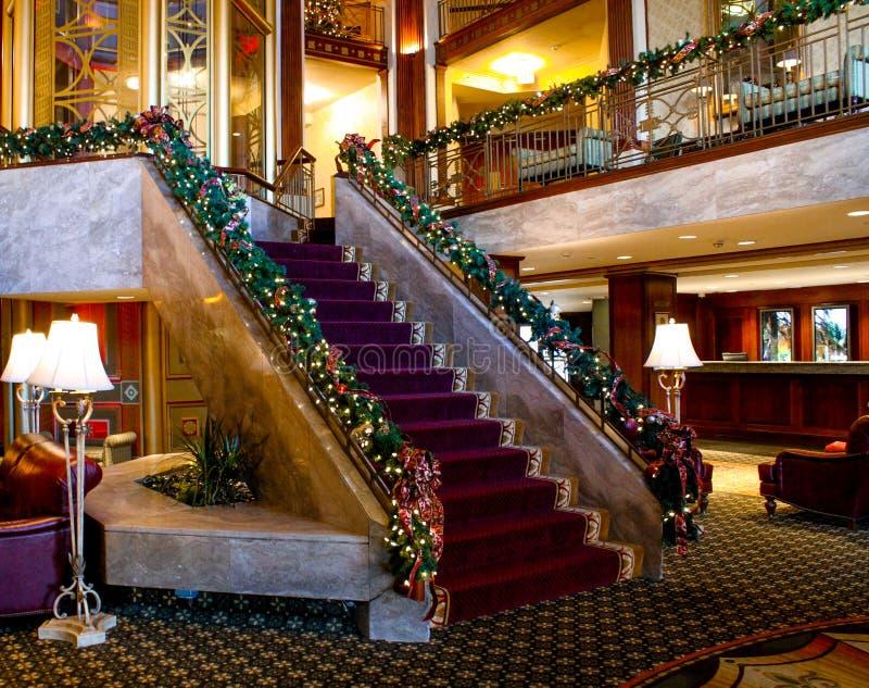 Jul tajmar på det Biltmore hotellet, försyn, RI royaltyfri fotografi