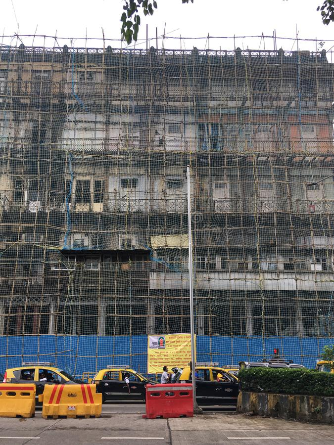 Watson`s Hotel, now known as the Esplanade Mansion, is India`s oldest surviving cast iron building.under renovation It is locate stock image