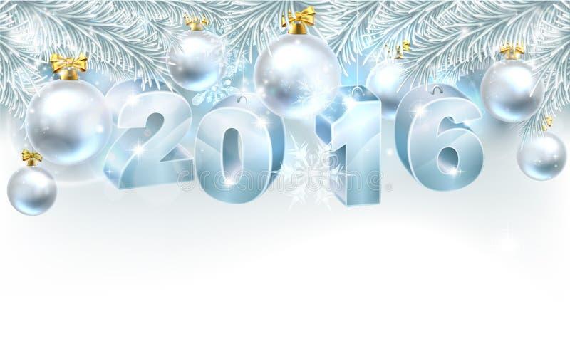 Julbakgrund 2016 för nytt år royaltyfri illustrationer