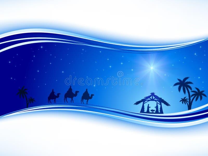 Julbakgrund med stjärnan stock illustrationer