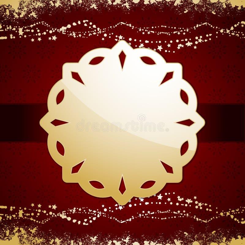 Julbakgrundsetikett royaltyfria foton
