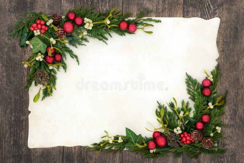 Julbakgrundsgräns royaltyfria foton