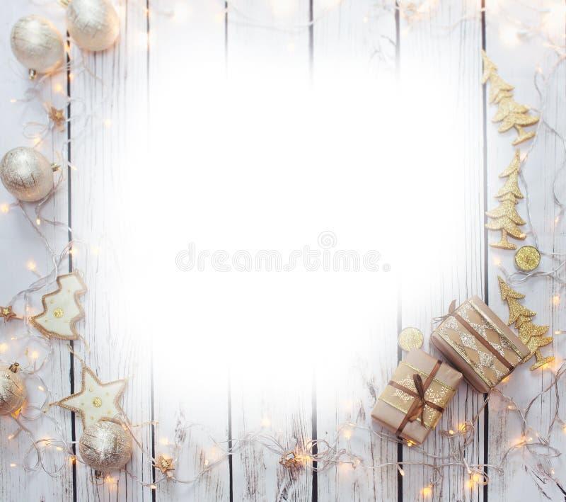 Julbakgrundsram stock illustrationer