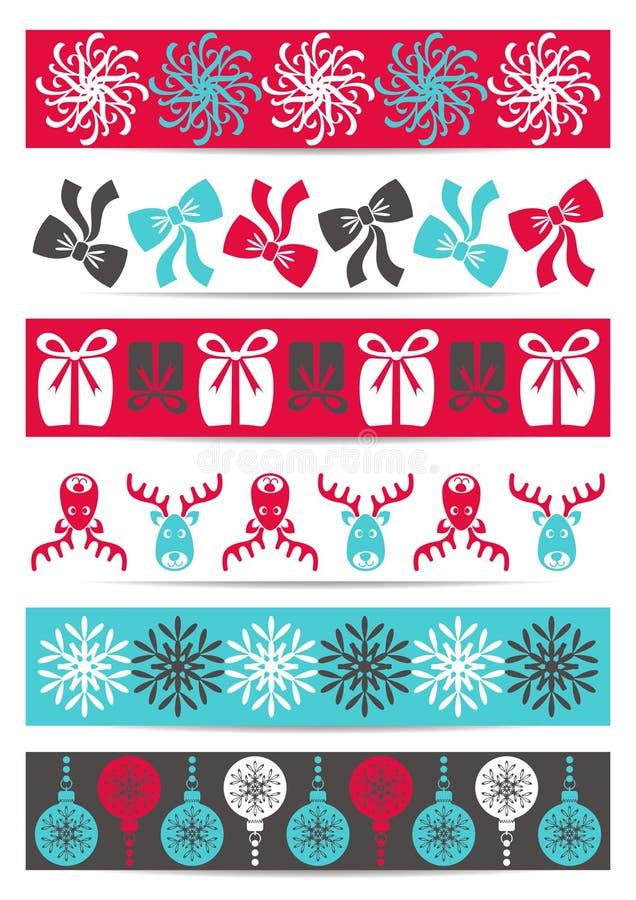 Julbaner vektor illustrationer