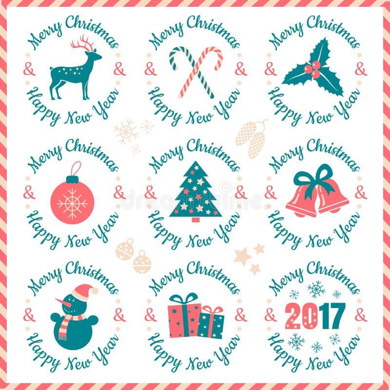 Julbaner 2017 vektor illustrationer