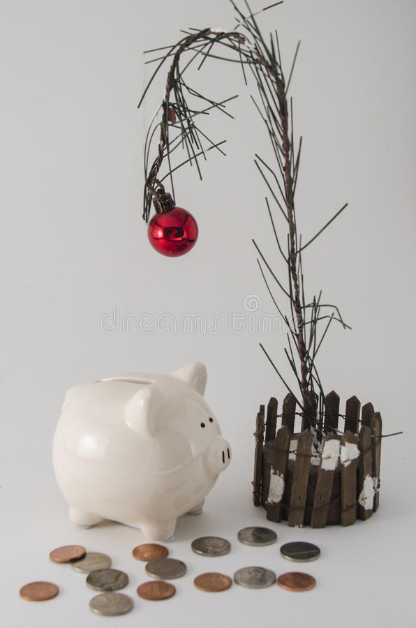 Julbesparingar och utgifter fotografering för bildbyråer