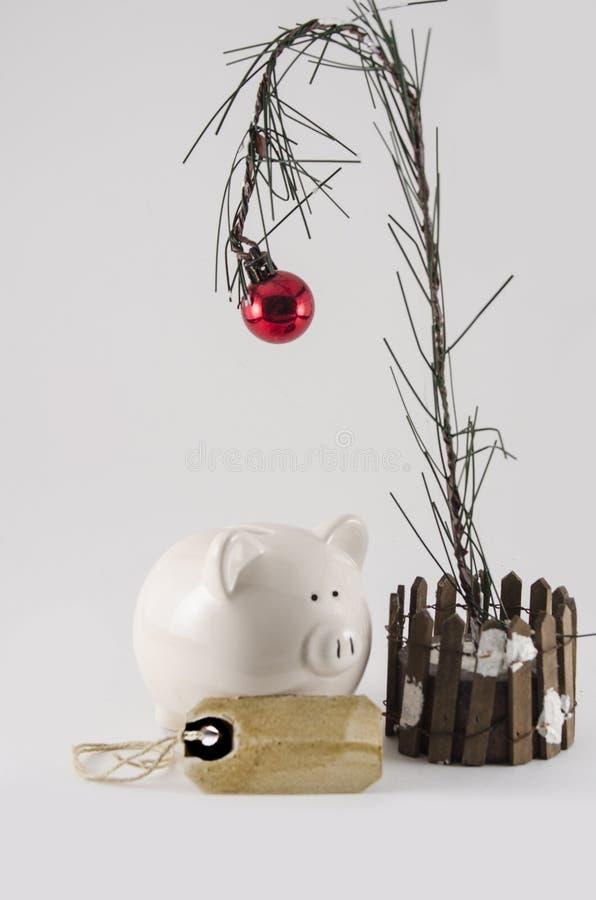 Julbesparingar och utgifter arkivfoton