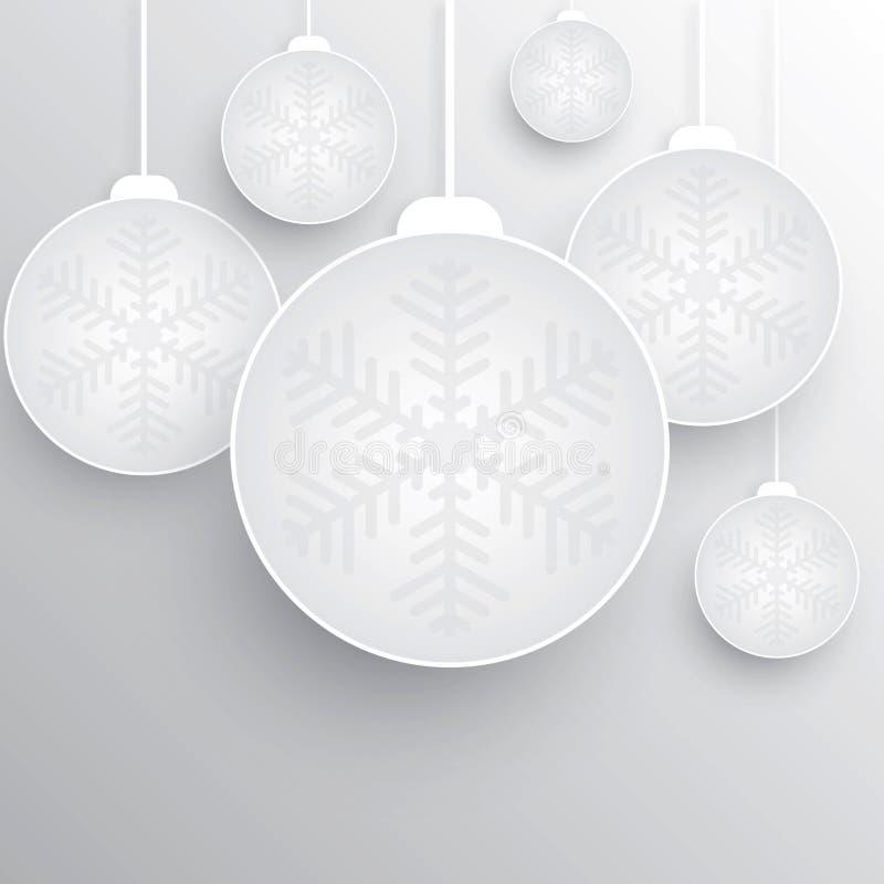 Julboll stock illustrationer