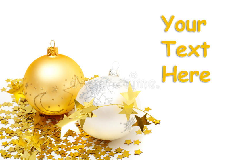 Julbollar och garneringar royaltyfria bilder