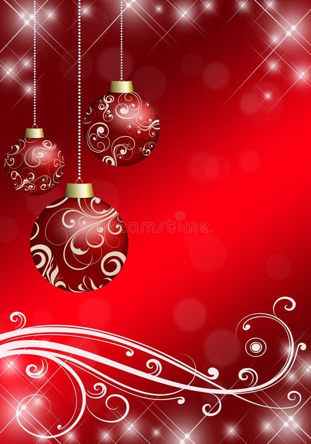 Julbollar på julbakgrunden vektor illustrationer