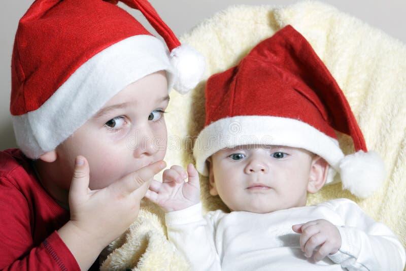 Julchilds royaltyfria bilder