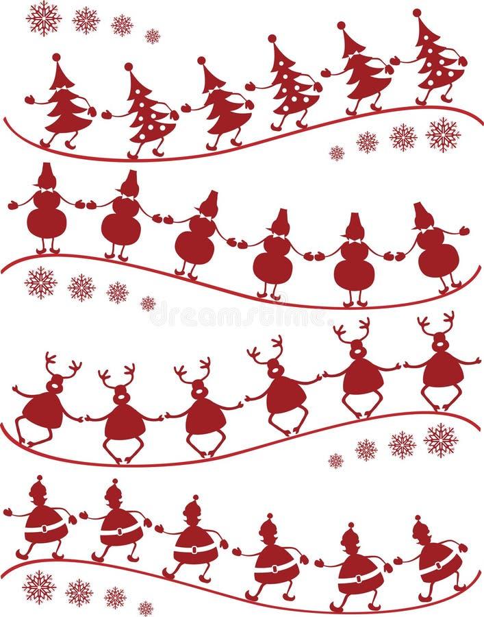 juldans vektor illustrationer