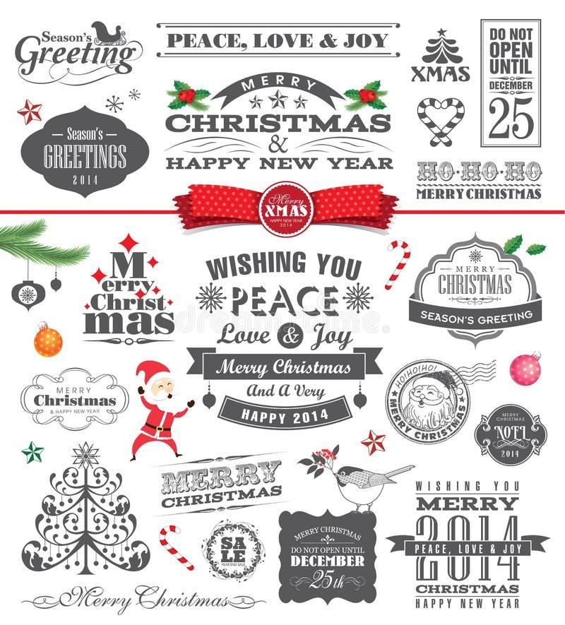 Juldesignbeståndsdelar stock illustrationer