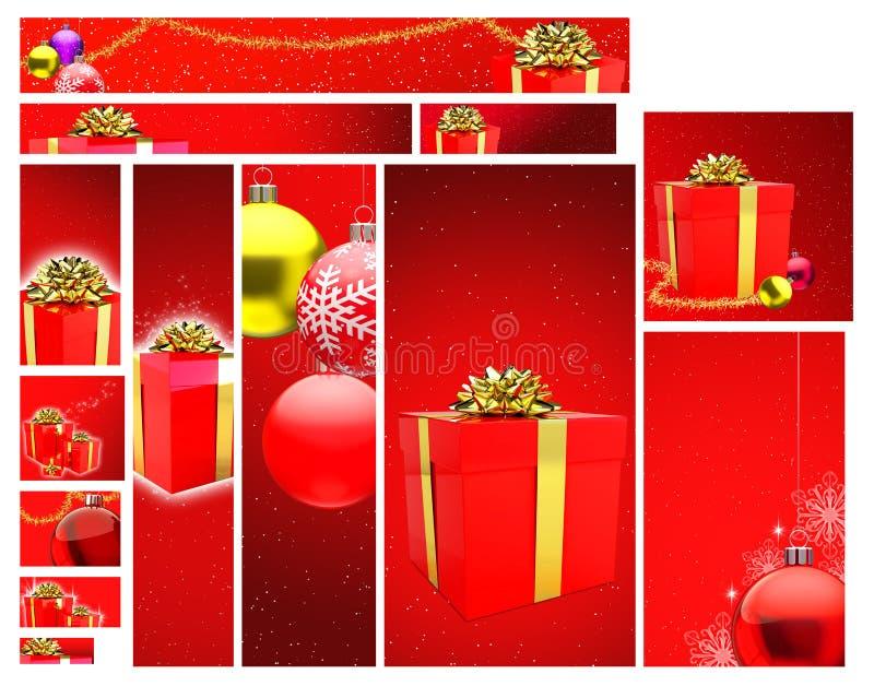 juldesignmall vektor illustrationer