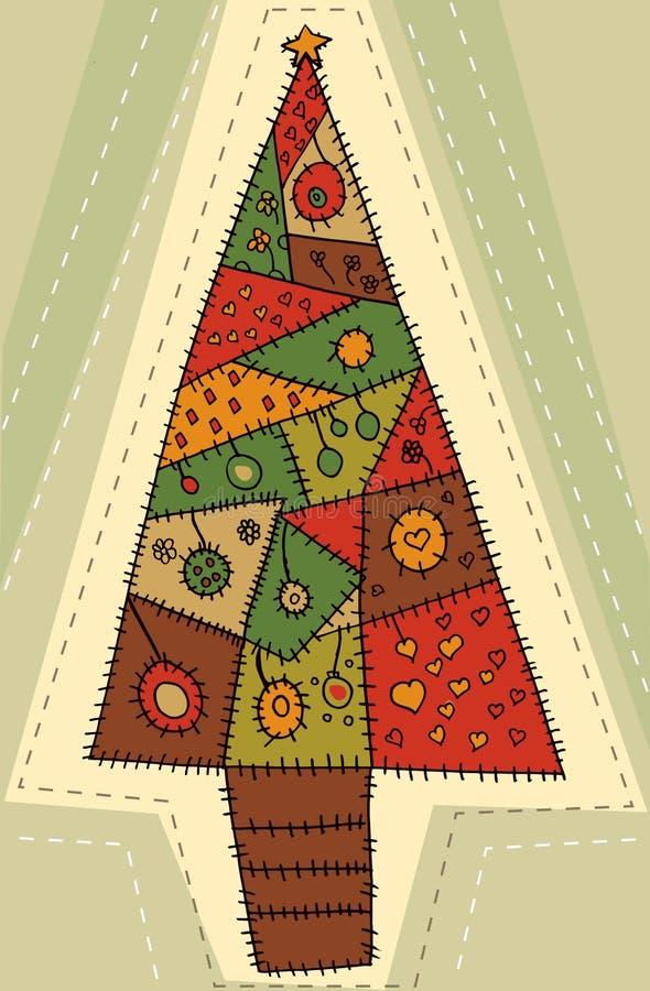 juldesigntree vektor illustrationer