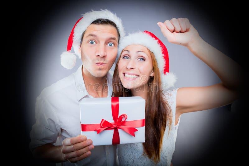 Julen besök att knacka dörren arkivfoton