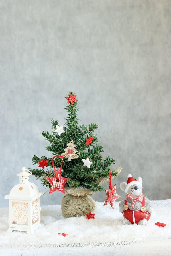 julen dekorerade arkivfoto