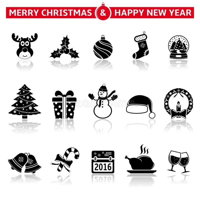 julen dekorerade pälssymbolstreen royaltyfri illustrationer