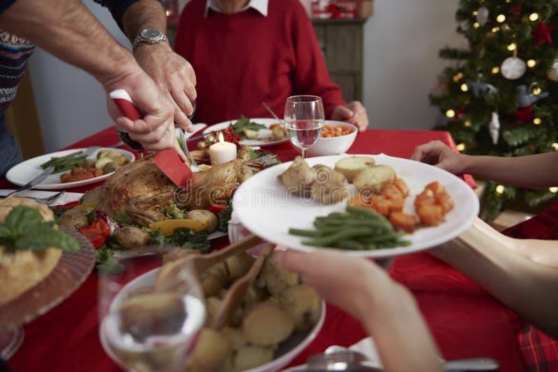 julen dekorerar nya home idéer för matställe till arkivfoto