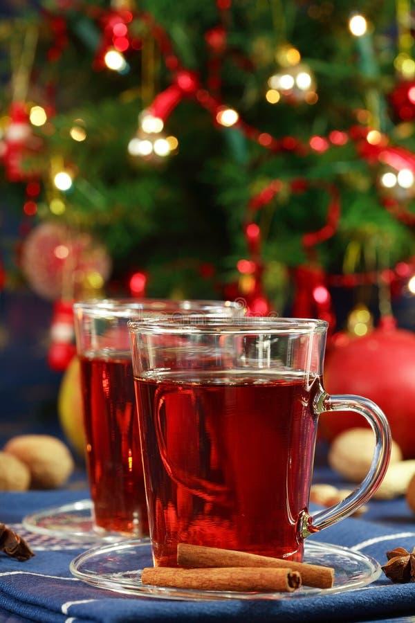 julen dricker varmt royaltyfri fotografi