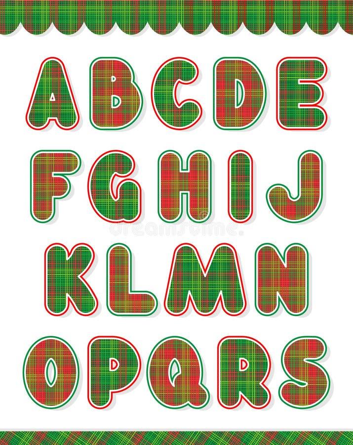 julen för 1 alfabet part seten stock illustrationer