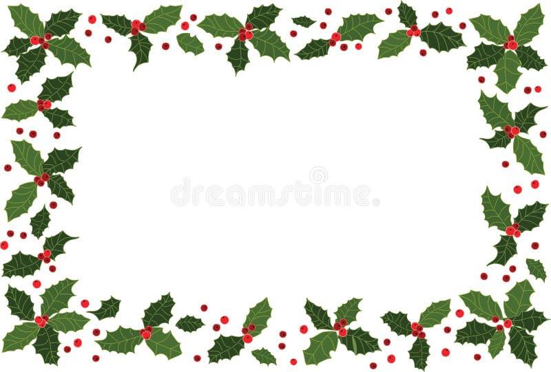 Julen inramar royaltyfri illustrationer