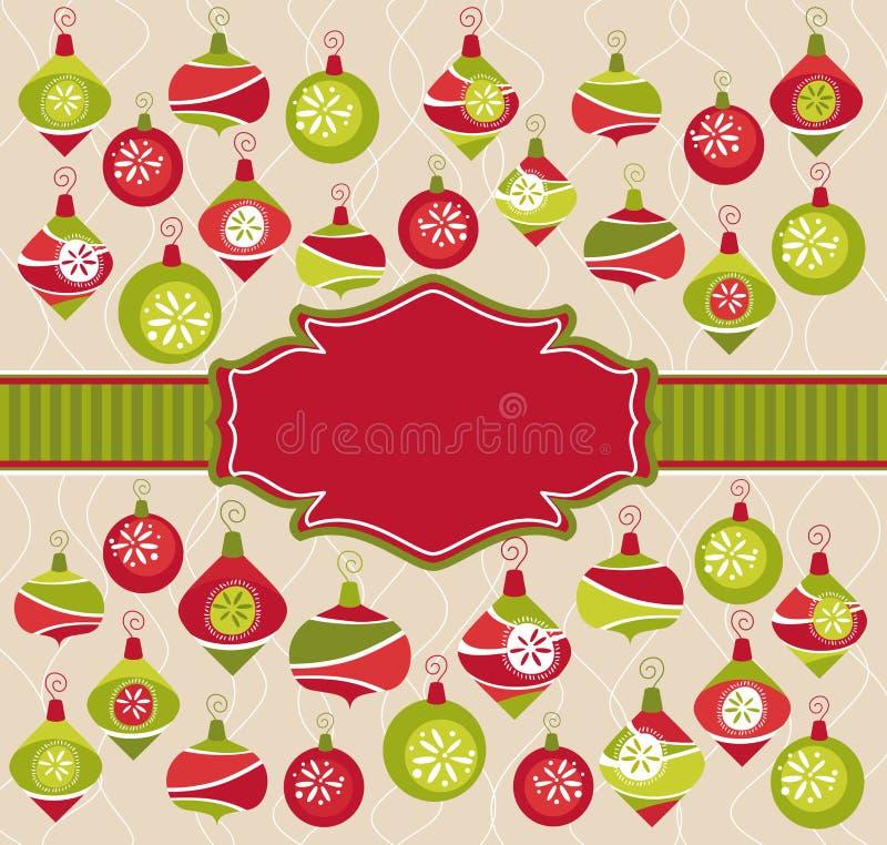 julen inramniner älskvärt royaltyfri illustrationer
