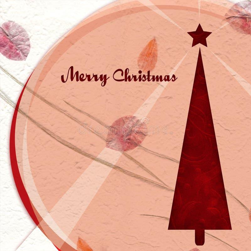 julen klippte den glada paper treen stock illustrationer
