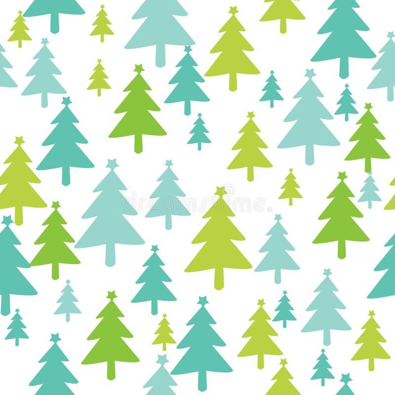 julen mönsan den seamless treen vektor illustrationer