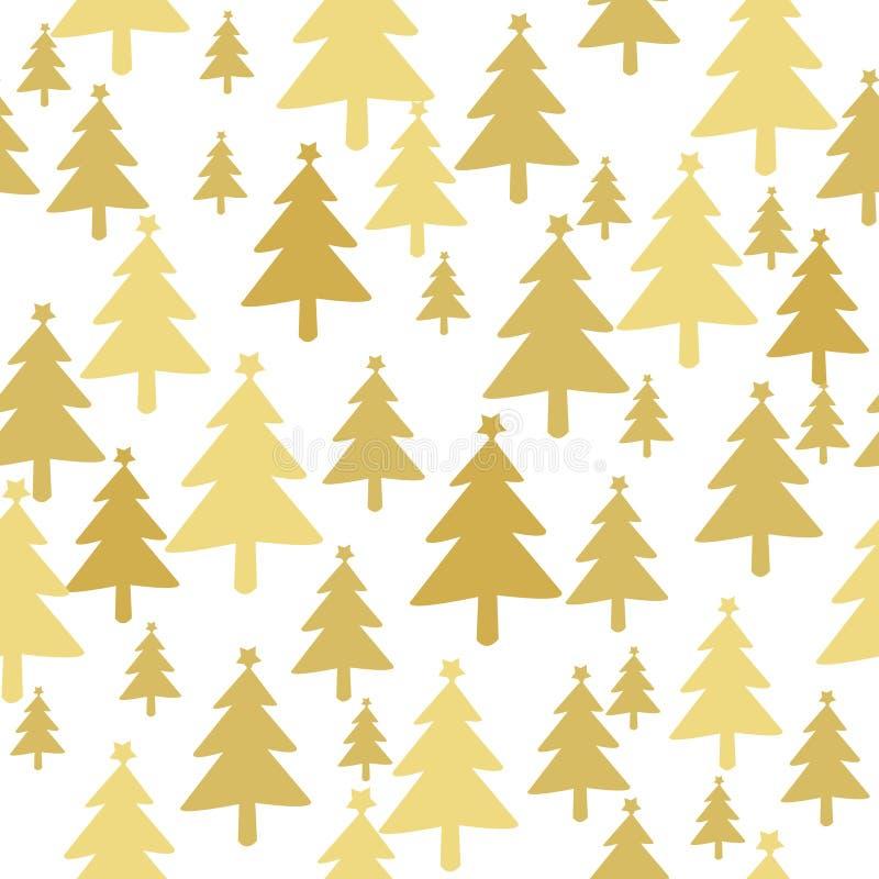 julen mönsan den seamless treen stock illustrationer