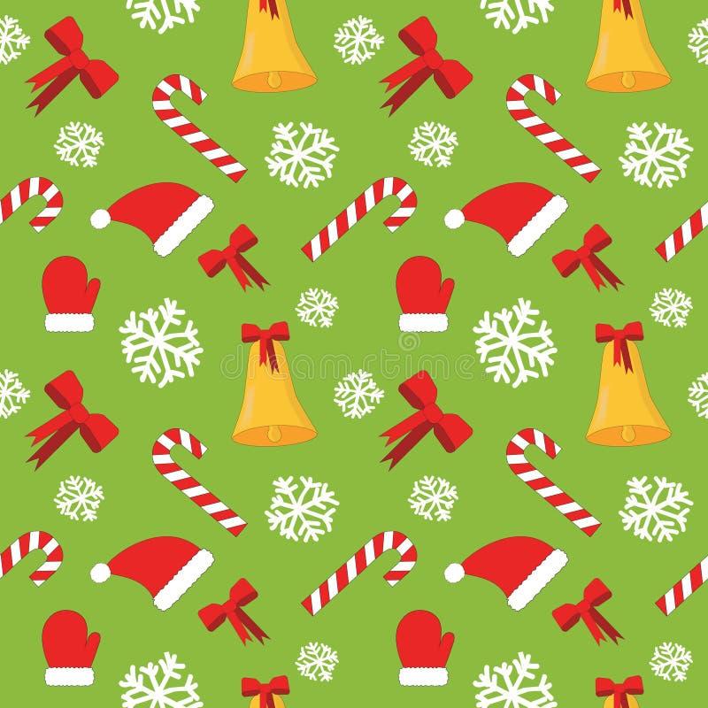 Download Julen Mönsan Den Seamless Vektorn Stock Illustrationer - Illustration av säsong, snow: 76701494