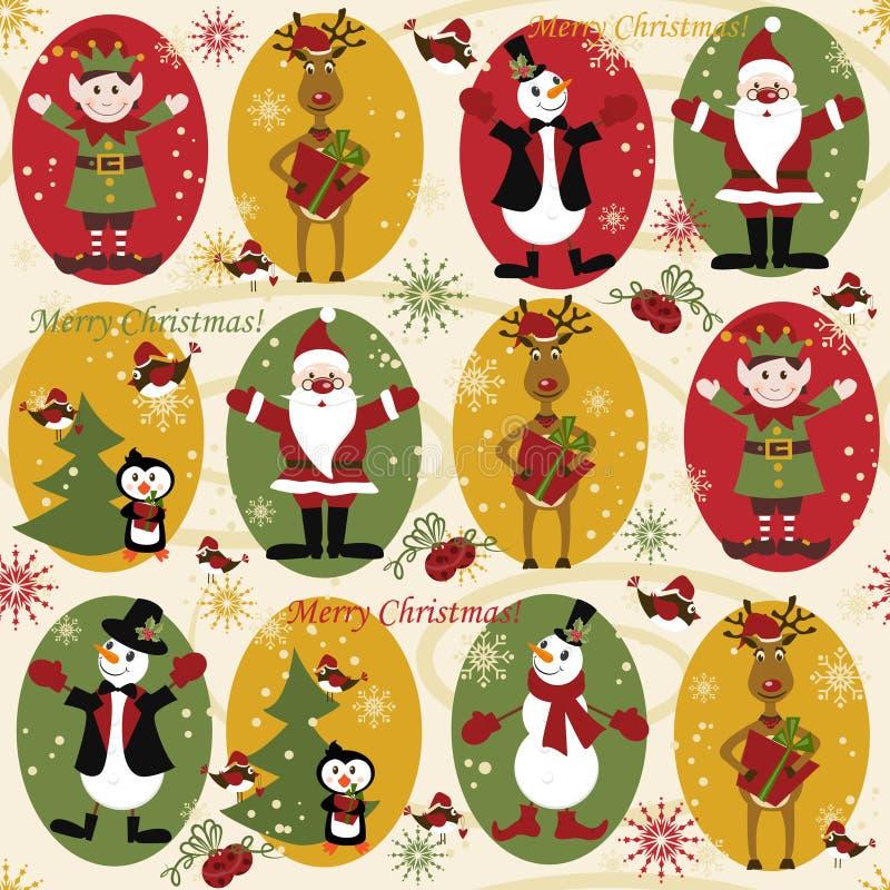 Download Julen mönsan seamless vektor illustrationer. Illustration av utsmyckat - 19787393