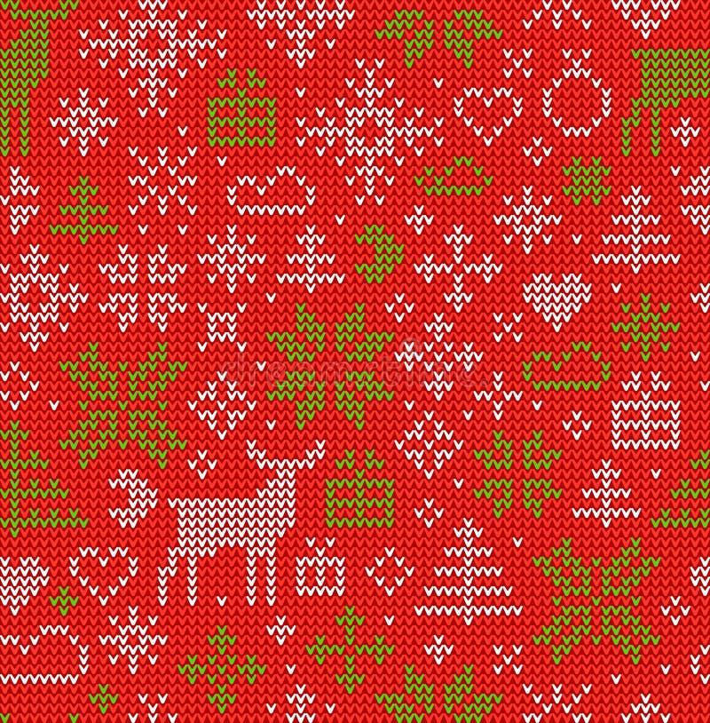 julen mönsan seamless Nordisk stil stock illustrationer