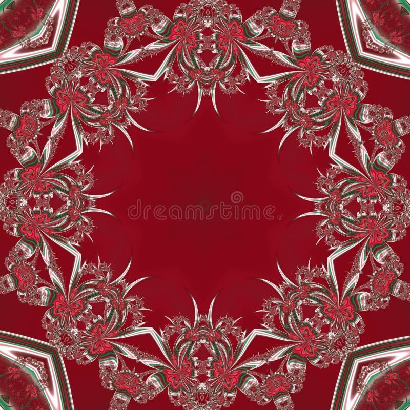 julen mönsan seamless Röda, gröna och vitfärger Du kan använda det för inbjudningar, gåvan som förpackar, inpackningspapper, feri royaltyfri illustrationer