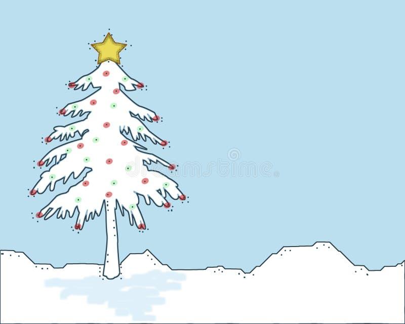 julen räknade snowtreen vektor illustrationer