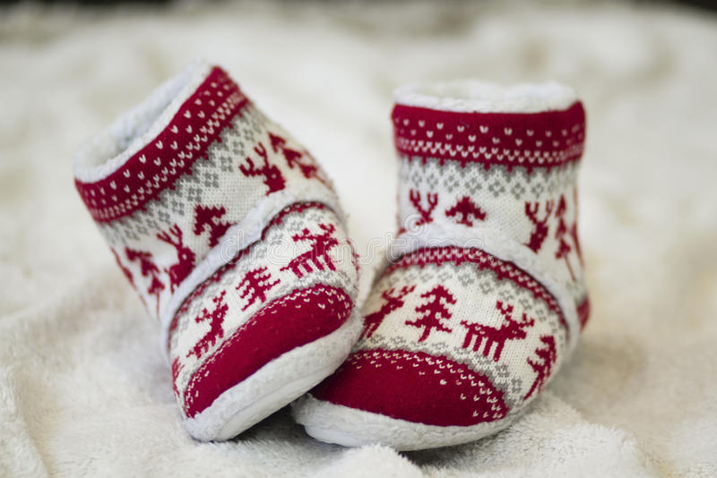 Julen skor arkivbild