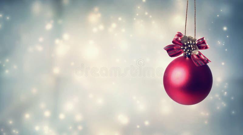 julen smyckar red royaltyfri fotografi