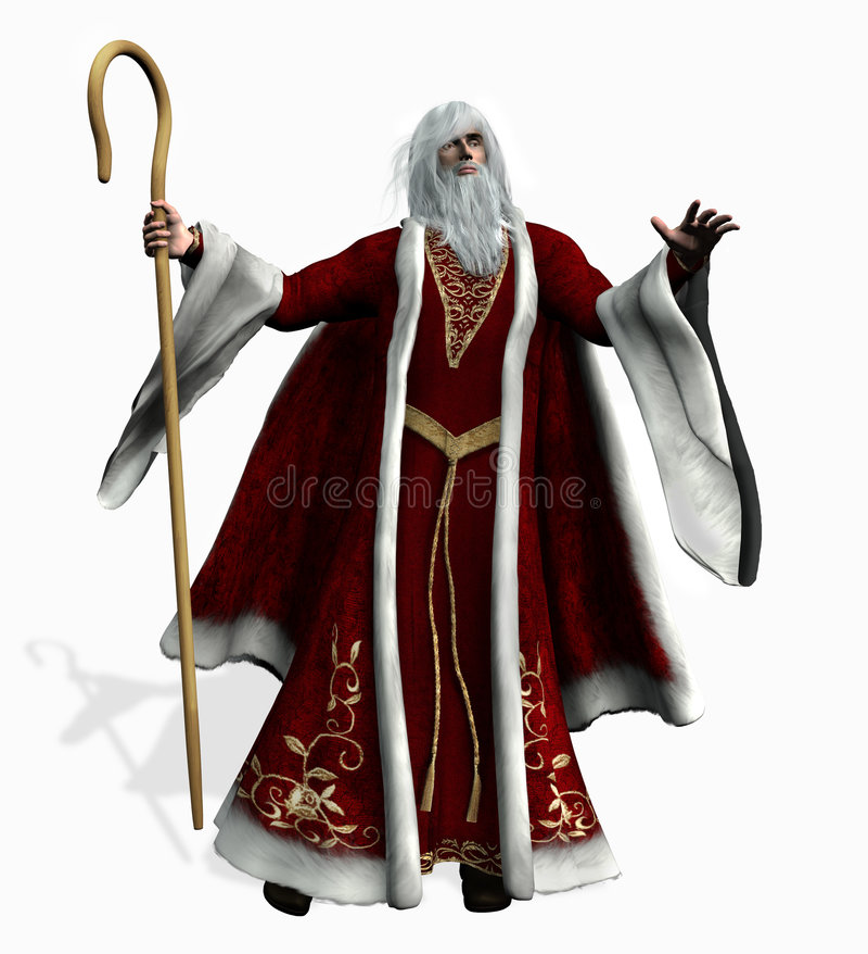 julen som fäster fadern ihop, inkluderar banan royaltyfri illustrationer