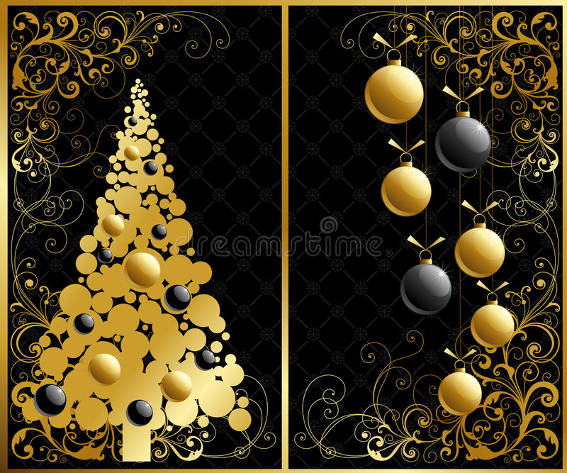 julen ställde in vektor illustrationer