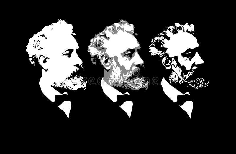 Jules Verne stock afbeeldingen
