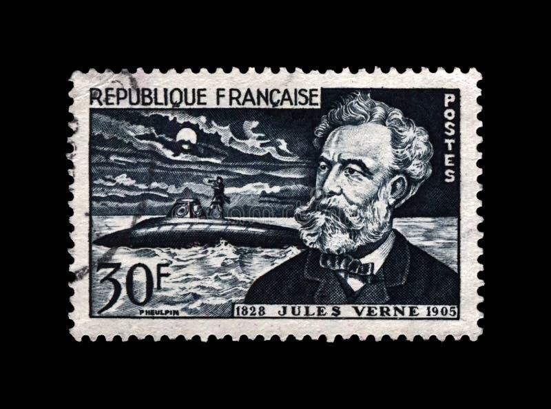 Jules Verne, berühmter Wissenschaftsverfasser und Nautilusunterseeboot, Frankreich, circa 1955, lizenzfreie stockfotografie