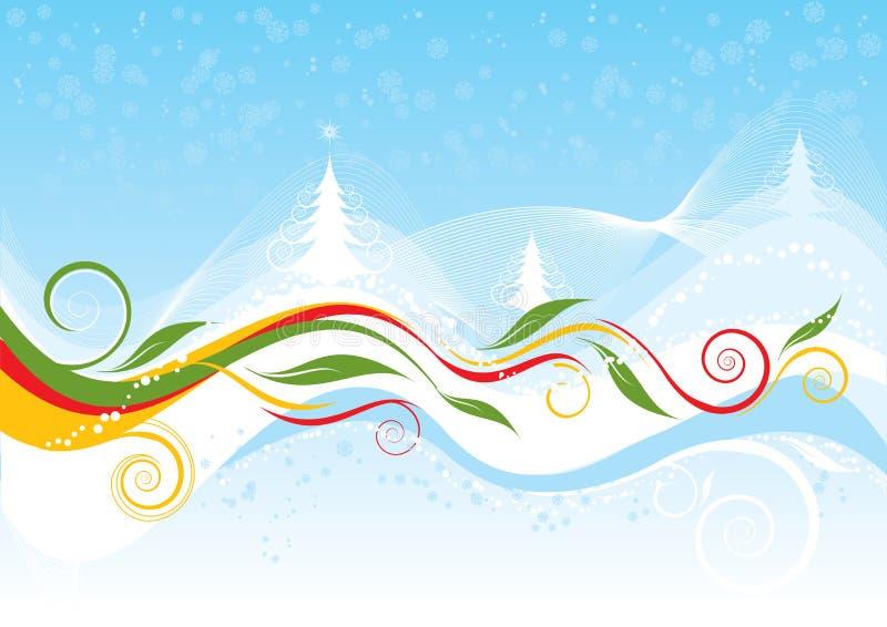 Julfärgbakgrund vektor illustrationer