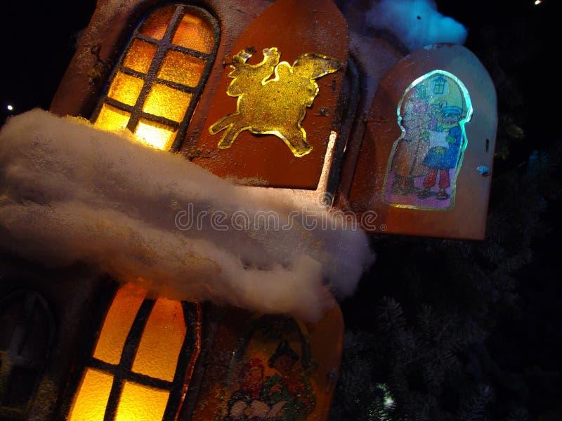 julfönster arkivfoto