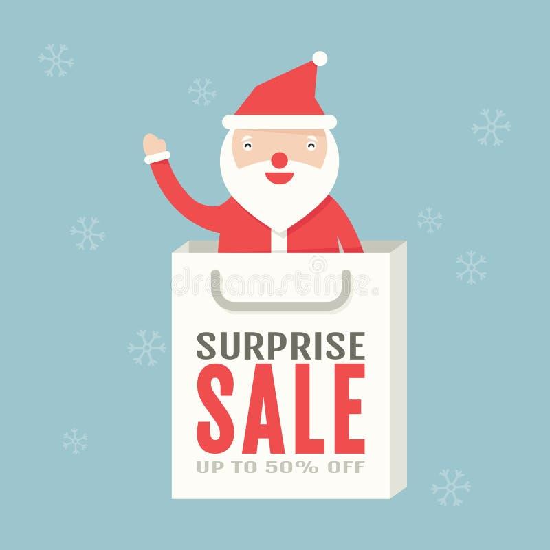 Julförsäljning vektor illustrationer