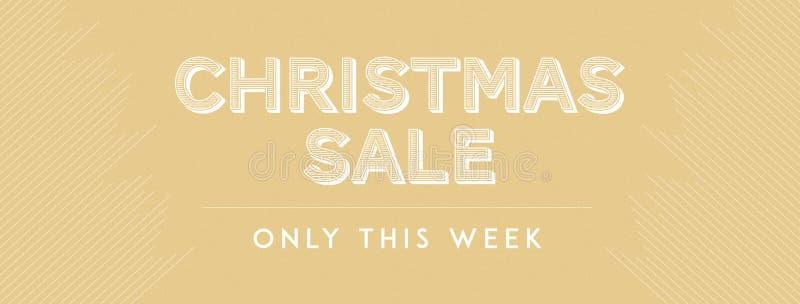 Julförsäljning endast denna vecka royaltyfria bilder