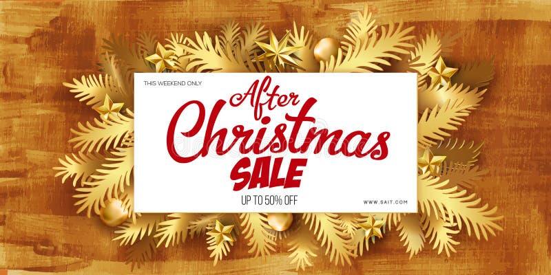 Julförsäljningsaffisch royaltyfri illustrationer