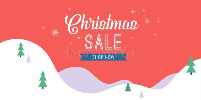 Julförsäljningsbaner, bakgrund, designmall stock illustrationer