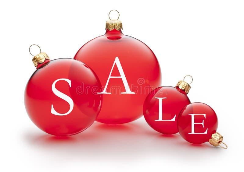 Julförsäljningsprydnad arkivfoto